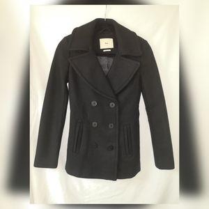 Aritzia TNA classic wool peacoat coat